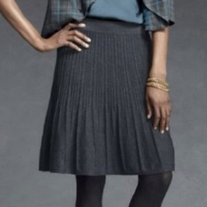 CAbi #506 Charcoal Gray Knit A-Lined Skirt Medium
